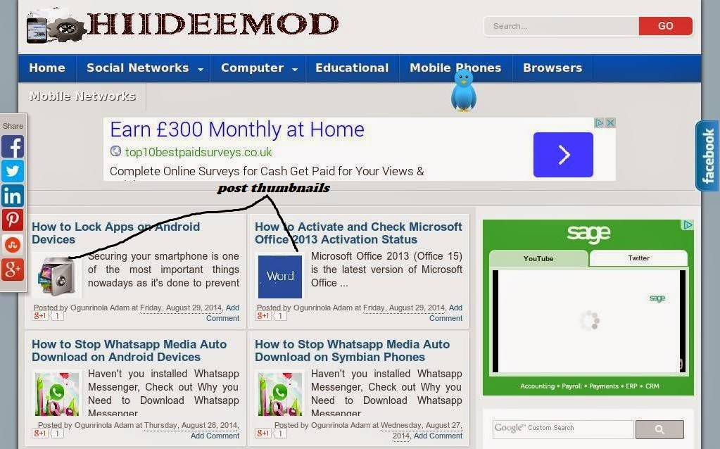 How to Add Post Thumbnail to Blogger Posts - www.hiideemod.com