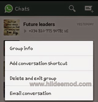 How to Remove Yourself from a Whatsapp Group Chat-www.hiideemod.com