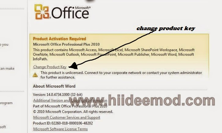 How to Activate and Check Activation Status of Microsoft Office 2010 - hiideemod.com