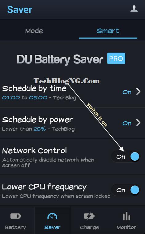 dubattery saver network contrl techblogng - HiideeMedia
