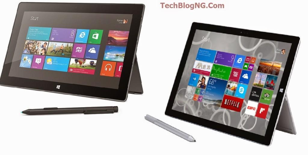 Microsoft Surface Pro 2 vs Microsoft Surface Pro 3