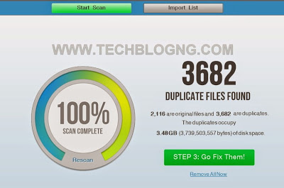 Duplicate file finder complete - HiideeMedia