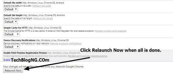 PC Chrome Settings