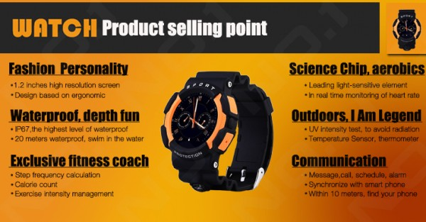 NO.1 A10 Rugged Outdoor Sports Smartwatch