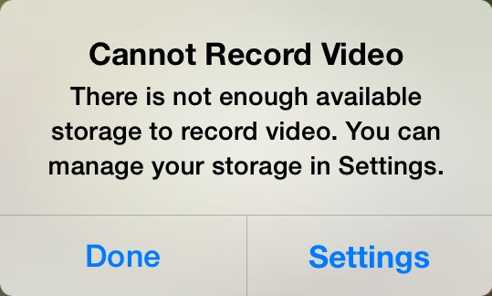 Not Enough Storage on IPhone