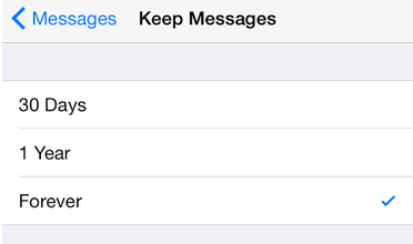 Keep Messages on iphone