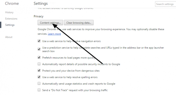 stop unwanted notifications to chrome