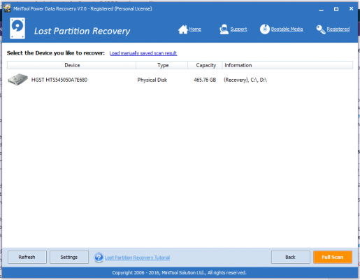 MiniTool Power Data Recovery Lost partition recovery