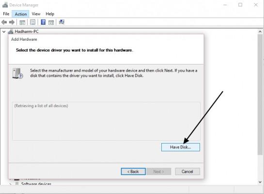 Manually install MediaTek USB VCOM drivers