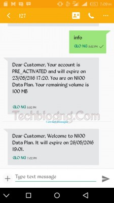 glo 100 naira for 100MB