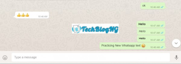 How to Bold, Italicize and Cross Over WhatsApp Text Messages