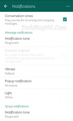 disable/enables whatsapp notification