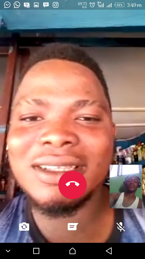 A Video Call with my whatsapp Contact