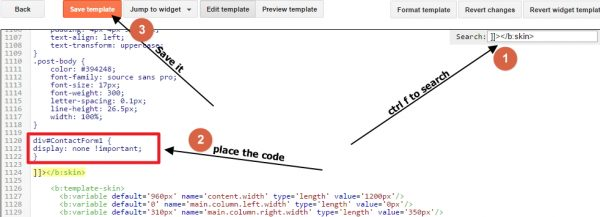 search for code in blogger templates