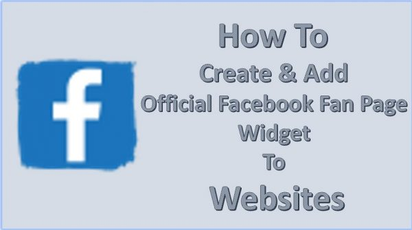 How To Create Add Official Facebook Fan Page Widget To Websites 600x335 1 - HiideeMedia