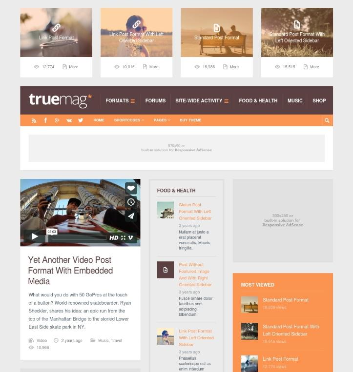truemag wordpress theme - HiideeMedia