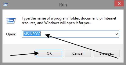 run msinfo32