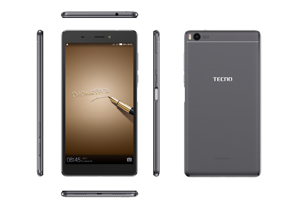 Tecno Phone Pad 3 front and back view