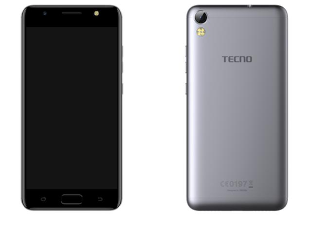 Tecno i3 front and back view