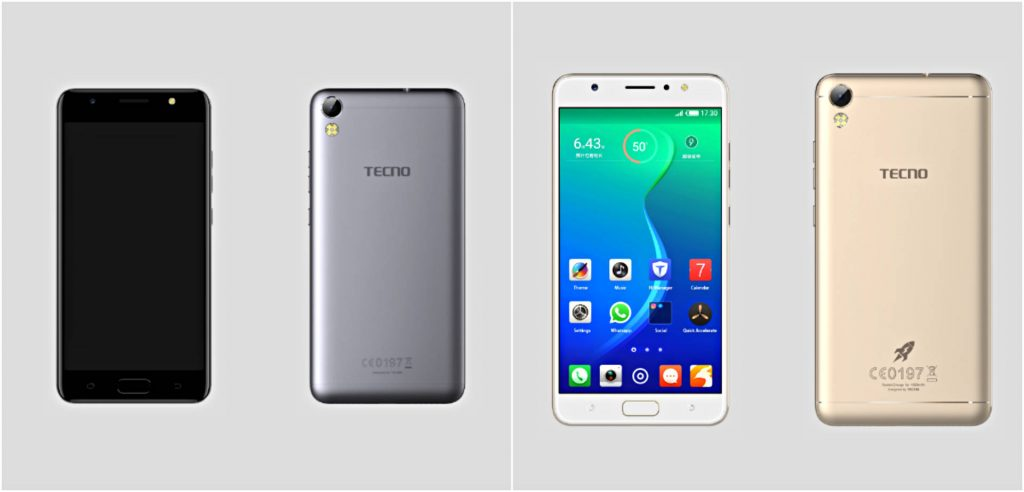 Tecno i7 front and back view