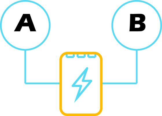Power Banks from different companies