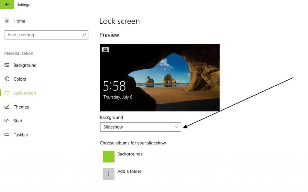 lockscreen settings