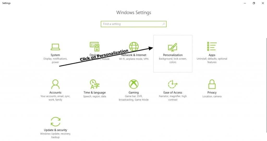 settings-windows 10
