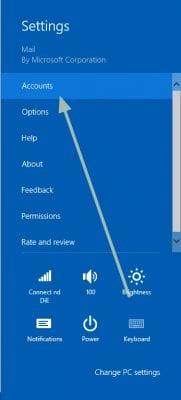 setup new mail on windows 8 mail app