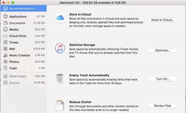 macbook pro storage