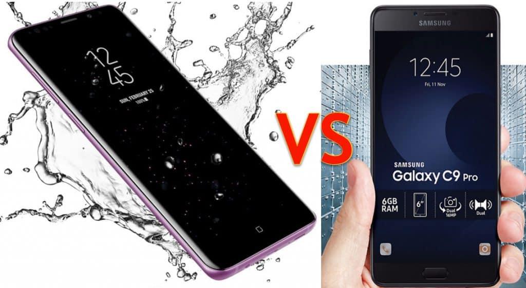 Galaxy s9 plus vs Galaxy C9 pro - techblogng