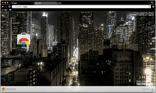Night Time In New York City theme