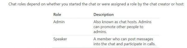 skype chat roles