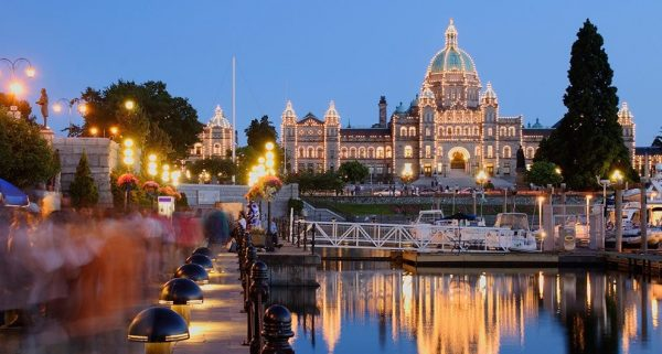 The city of Victoria 600x321 - Top Beautiful Places in Canada for Holiday Sessions