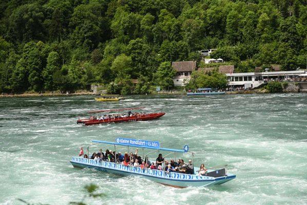 Boat Ride to Rhine Falls - HiideeMedia