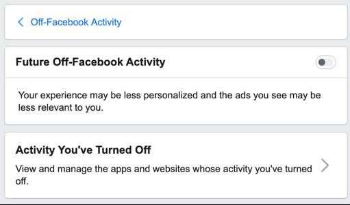 turn off facebook activity - HiideeMedia