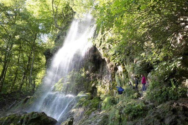 Bad Urach Waterfall in Baden-Wuttemberg