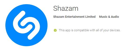 shazam music player